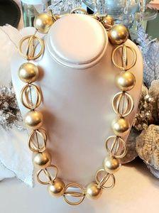 Vintage Anne Klein Gold Tone Choker Necklace